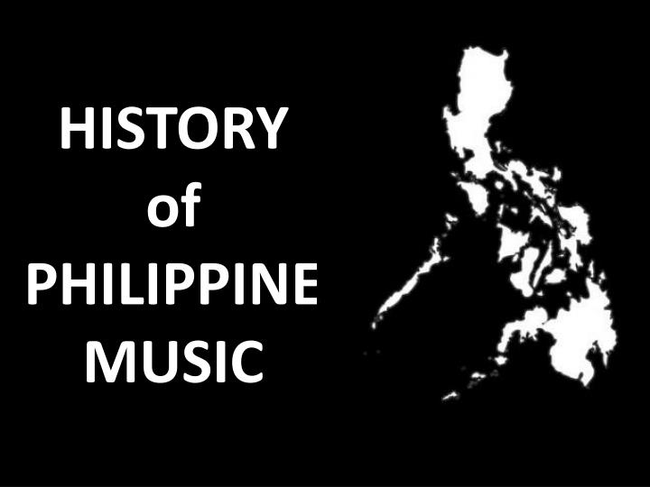 history of philippine music n.