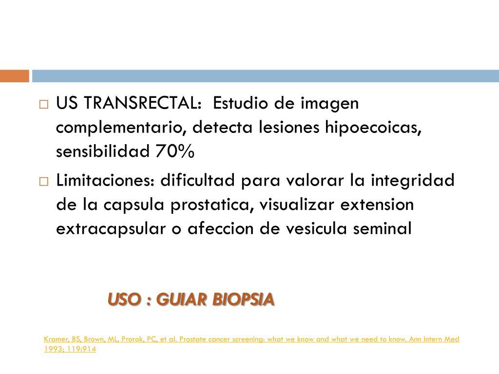 seminarios de próstata y vesícula en la limitación
