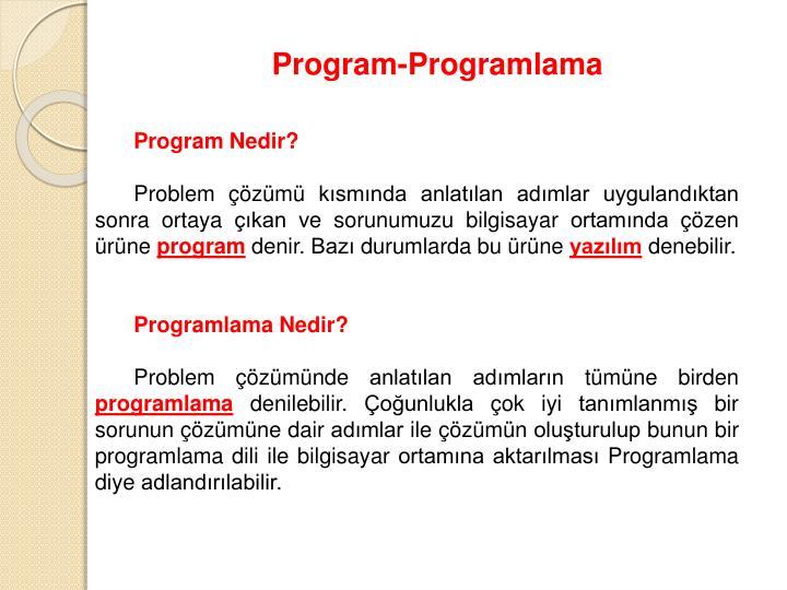 Program-Programlama