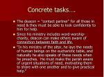 concrete tasks