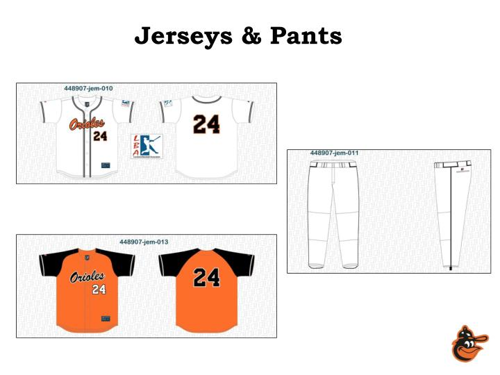Jerseys pants