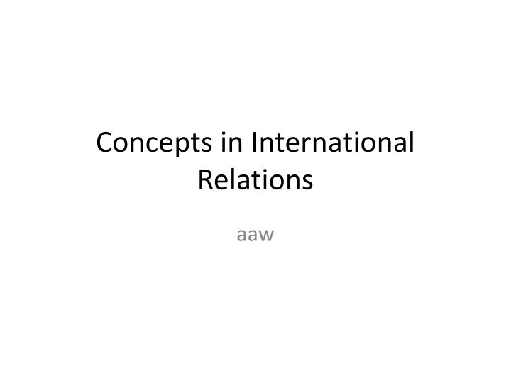 understanding concept of strategy geometry in relations to international relations 8 realism and international relations box 11 (cont)4 realists assume that the real issues of international politics can be under-stood by the rational analysis of competing interests dewned in terms of.