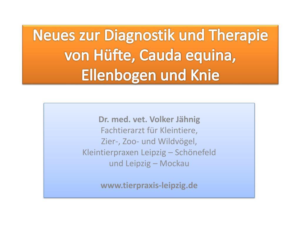PPT - Neues zur Diagnostik und Therapie von Hüfte, Cauda equina ...