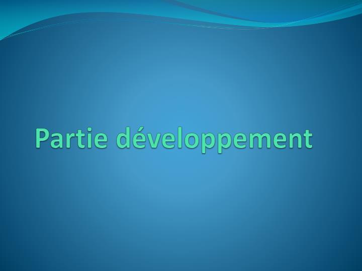 Partie développement