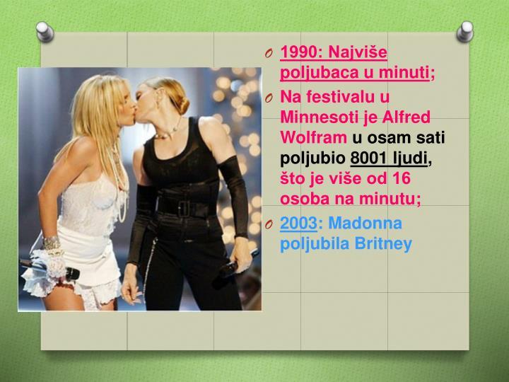 1990: Najviše poljubaca u minuti