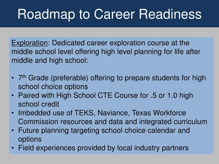 Roadmap to Career Readiness