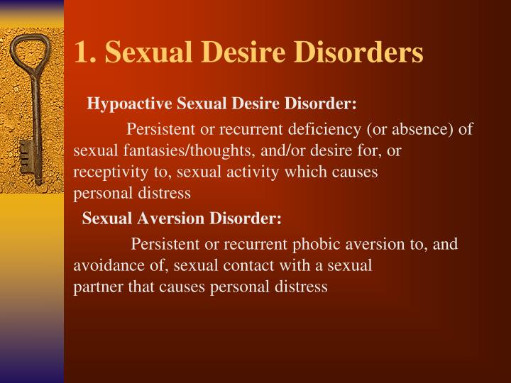 1. Sexual Desire Disorders