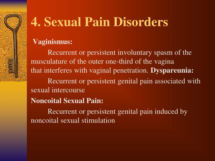 4. Sexual Pain Disorders