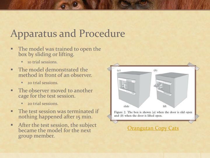 Apparatus and Procedure