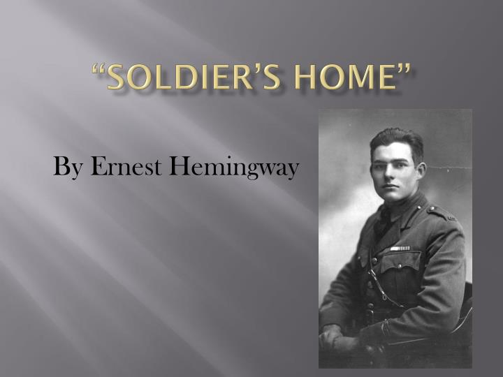 PPT Soldier S Home PowerPoint Presentation ID 1975324