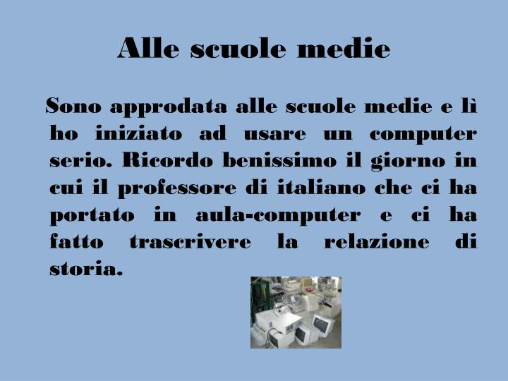Alle scuole medie