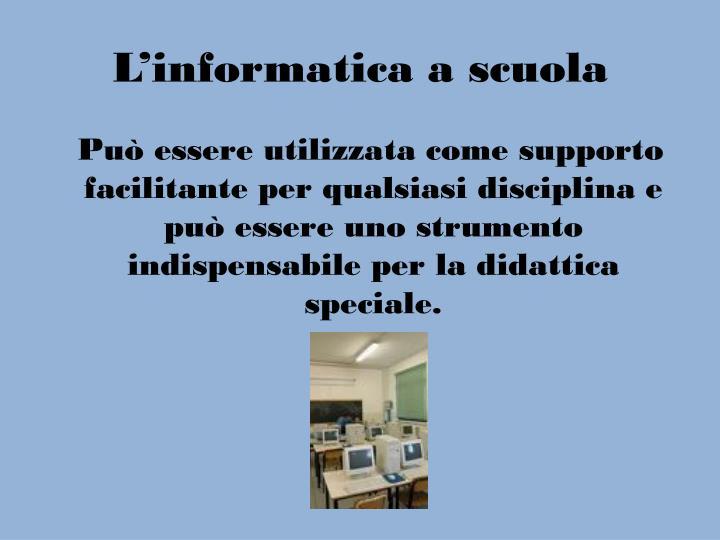 L'informatica a scuola