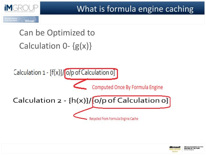What is formula engine caching