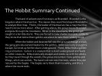 the hobbit summary continued