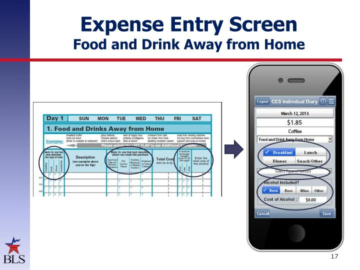 Expense Entry Screen