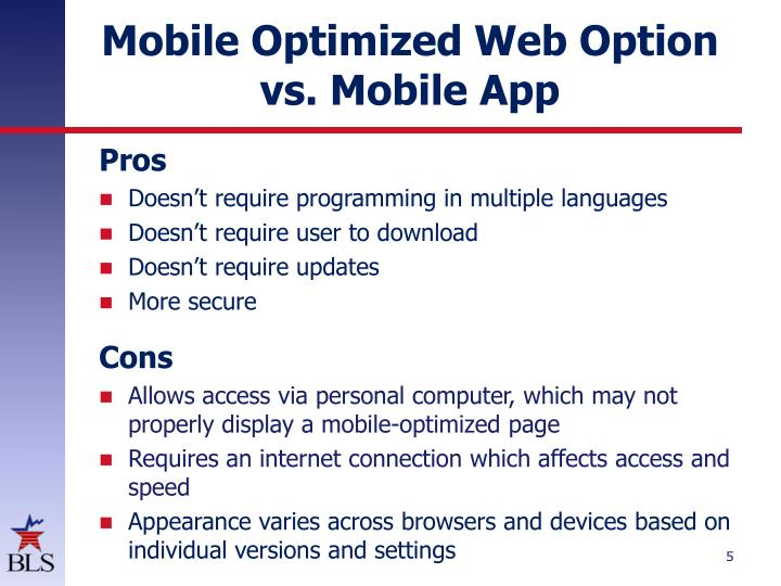 Mobile Optimized Web