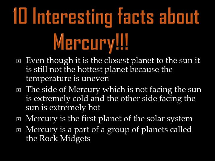 10 interesting facts about mercury
