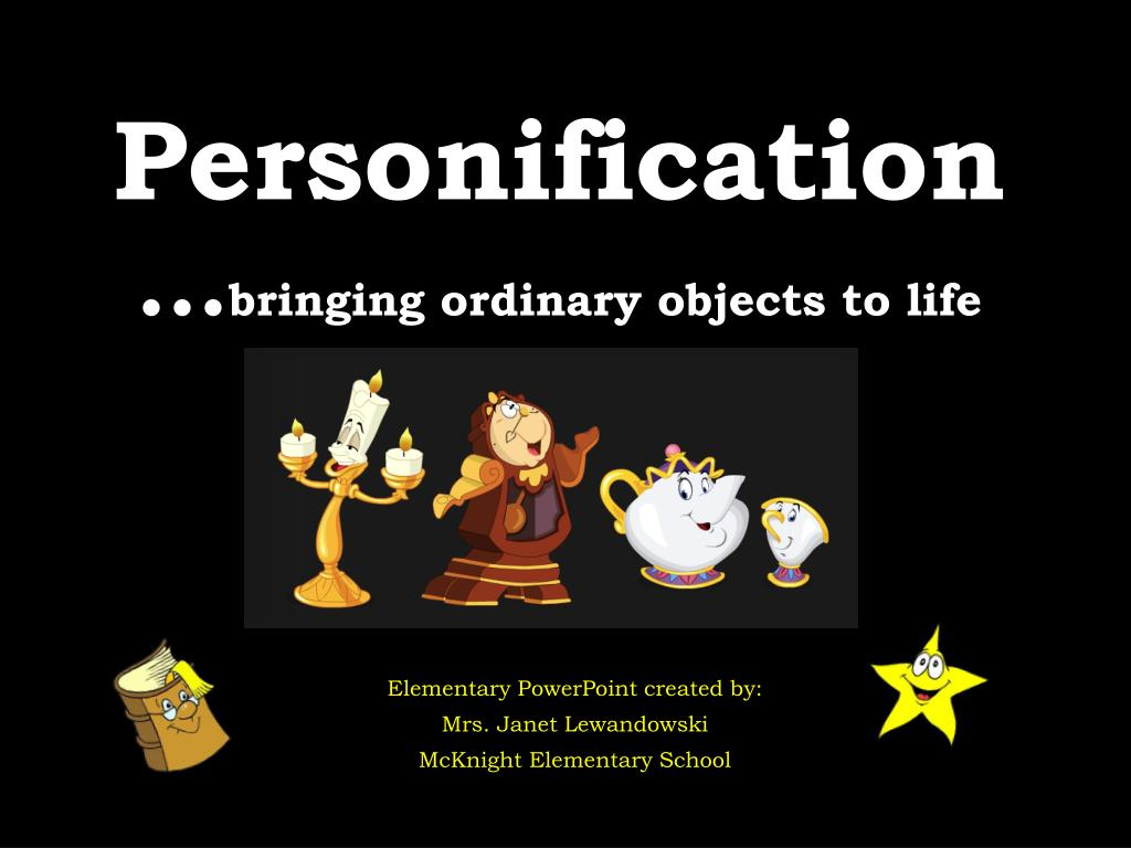 ppt personification bringing ordinary objects to life powerpoint