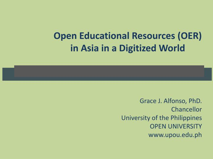 Open Educational Resources (OER
