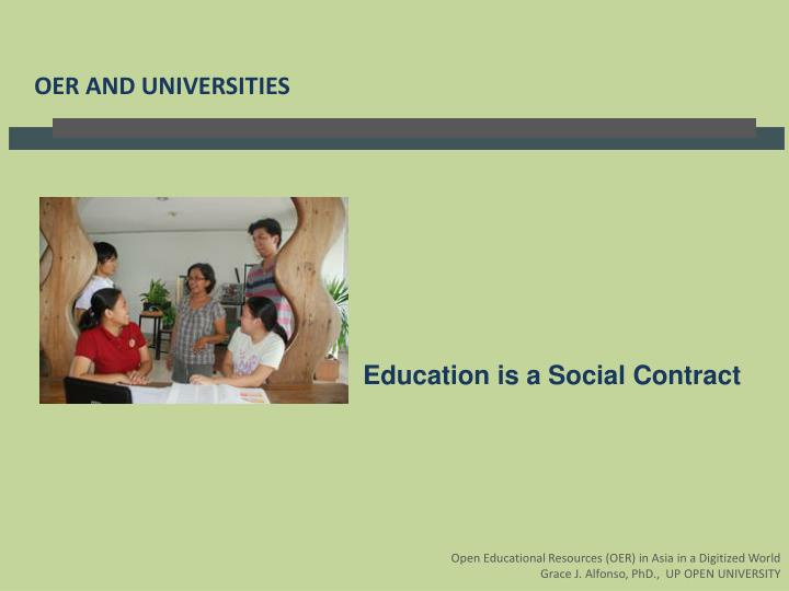 Education is a Social Contract