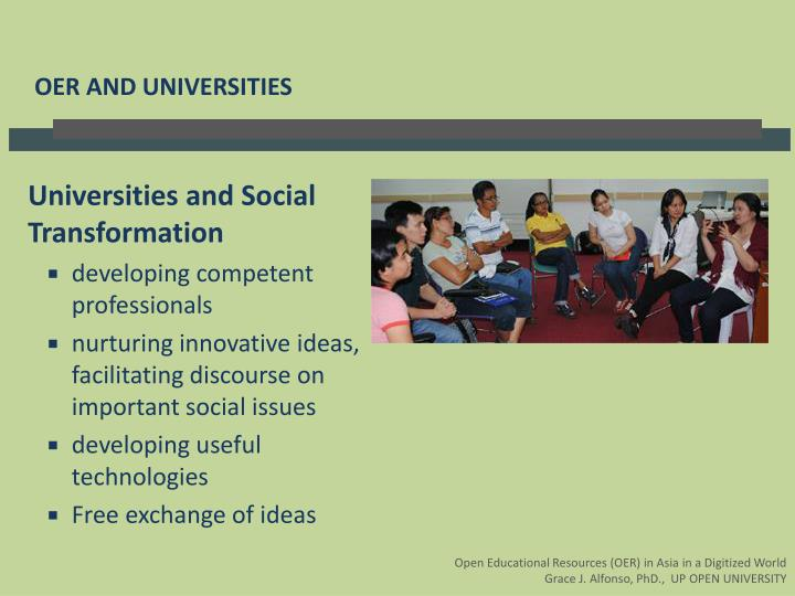 Universities and Social Transformation