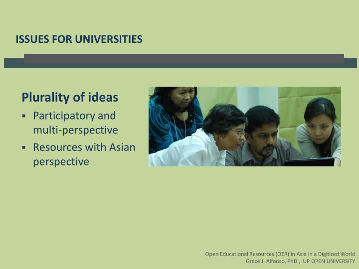 Plurality of ideas