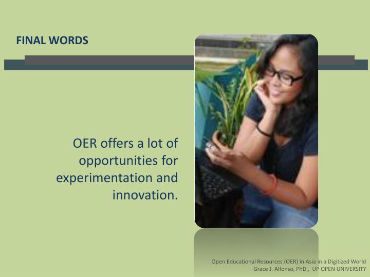 OER offers