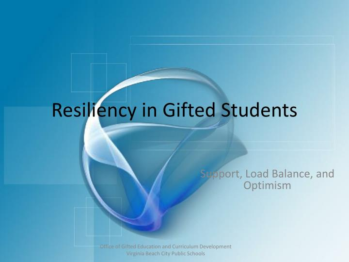 resiliency in gifted students