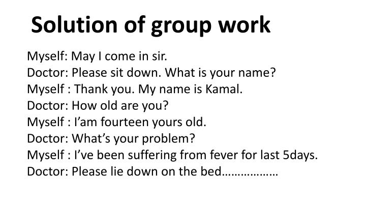 Solution of group