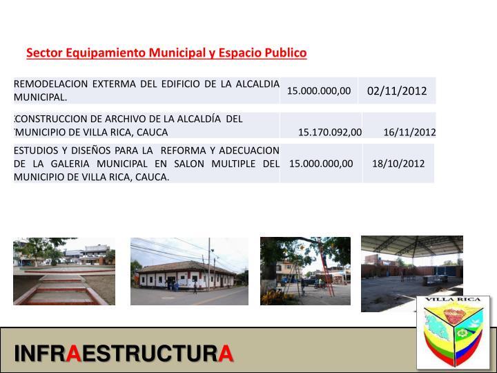 Sector Equipamiento Municipal y Espacio Publico