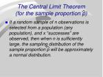the central limit theorem for the sample proportion p