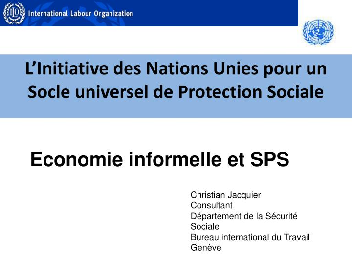 l initiative des nations unies pour un socle universel de protection sociale