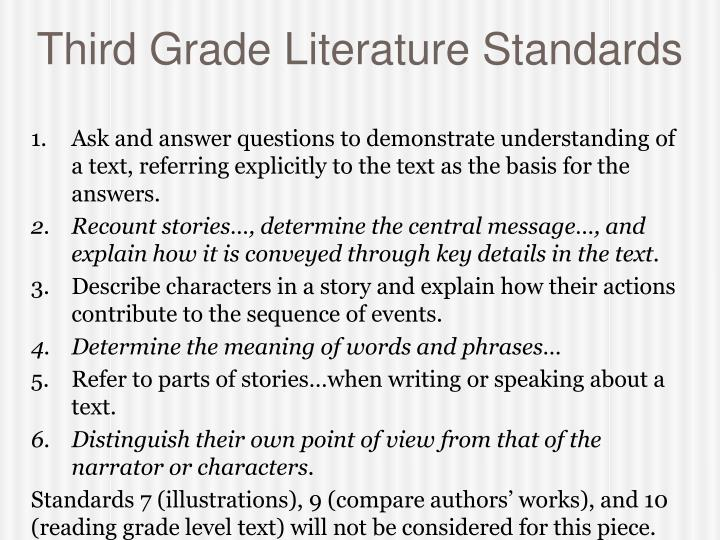 Third Grade Literature Standards