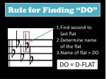 rule for finding do1