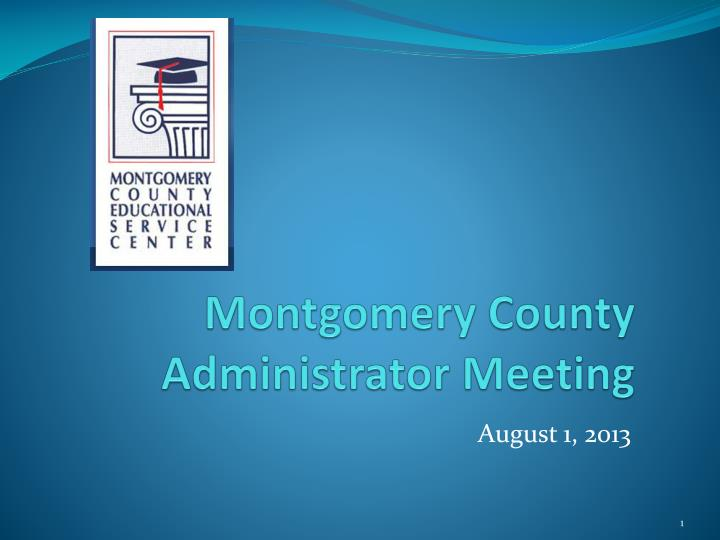 montgomery county administrator meeting n.