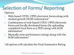 selection of forms reporting