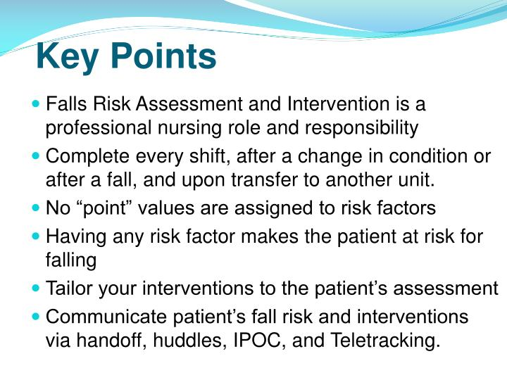 patient falls risk Patient falls assessment and prevention reviewed by sharon myers,rn,msn/msb,cphq,faihq,cphrm director of quality management king abdulaziz medical city, jeddah, saudi arabia.