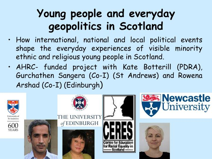 Young people and everyday geopolitics in Scotland