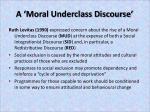 a moral underclass discourse