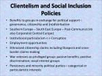clientelism and social inclusion policies