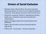 drivers of social exclusion