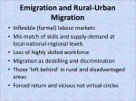 emigration and rural urban migration