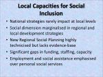 local capacities for social inclusion