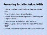 promoting social inclusion ngos