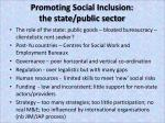 promoting social inclusion the state public sector