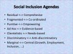 social inclusion agendas