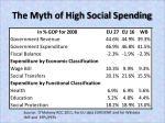 the myth of high social spending