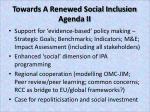 towards a renewed social inclusion agenda ii