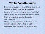 vet for social inclusion