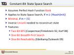 constant bit state space search